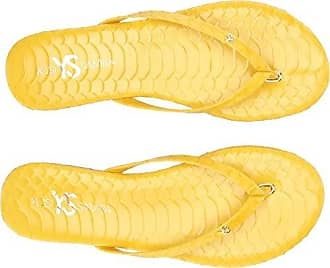 e9797f0866d6a0 Yosi Samra Womens Rivington-S Sandal Yellow Scaled Leather 5 M US