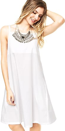 Finery Vestido Finery London Juniper Square Neck Cami Branco