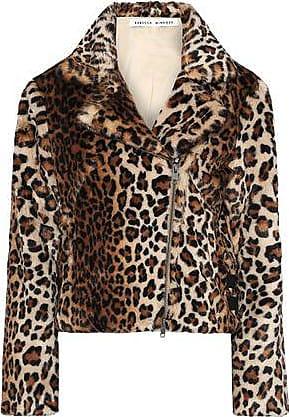 Rebecca Minkoff Rebecca Minkoff Woman Hudson Leopard-print Faux Fur Jacket Animal Print Size L