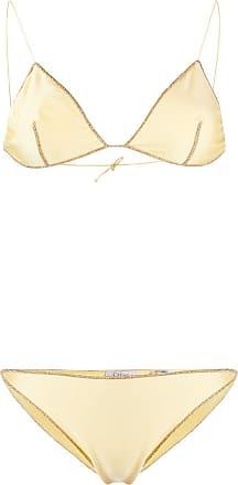 Oséree Biquíni com acabamento de brilho - Amarelo