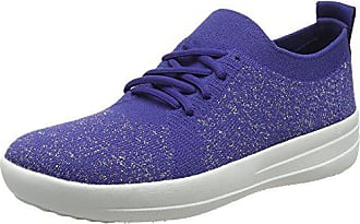 a04e891995543 FitFlop Fitflop F-SPORTY UBERKNIT SNEAKERS - METALLIC, basses femme - Blue  (Indian