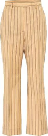 Acne Studios Striped high-rise flared wool pants