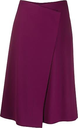 Escada wrap front skirt - Roxo