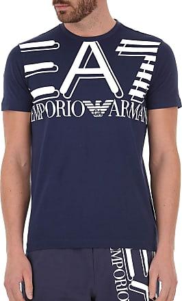 Emporio Armani EA7 Logo Crew Neck T-Shirt Navy 3HPT09 PJ02Z Medium