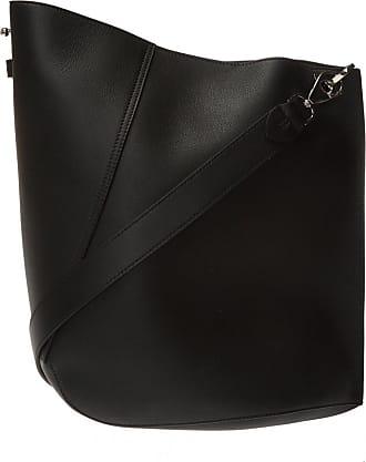 Lanvin Hook Shoulder Bag Womens Black