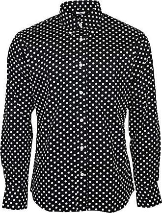 Relco Herren Weinrot Paisley Langärmlig Knöpfe Klassisches Hemd Mod 60er Jahre