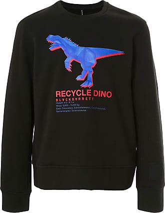 Blackbarrett Moletom Recycle Dino de algodão - Preto