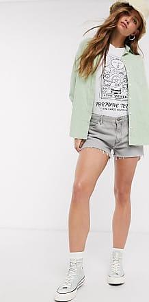 Wrangler Pantaloncini di jeans grigi-Grigio