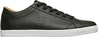 Fred Perry Baseline Mens Black Leather Trainers UK 9