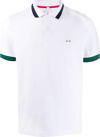 Sun 68 Poloshirt mit Kontrastdetails - Weiß