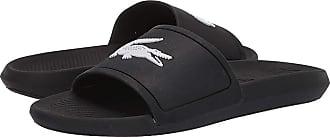 6147579b4 Lacoste Croco Slide 119 1 (Black White) Mens Shoes