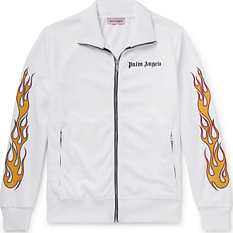 Palm Angels Slim-fit Glittered Printed Tech-jersey Track Jacket - White