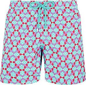 Vilebrequin Vilebrequin Moorea Swim Short Data Turtles Kirschblüte - xxl
