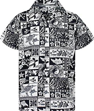 V.H.O. Funky Hawaiian Shirt, Puzzle, Black, XXL