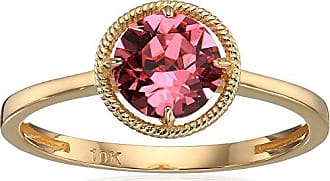 Amazon Collection 10k Gold Swarovski Crystal October Birthstone Ring, Size 6