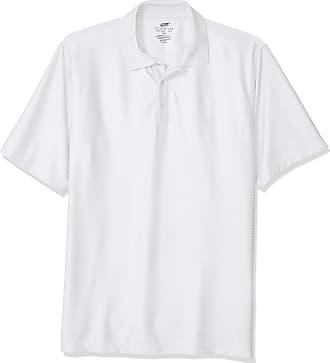 UltraClubs Mens ULTC-8545-Short-Sleeve Piqu/é Polo with Rib-Knit Collar White//Black X-Large