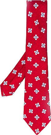 Kiton Gravata com estampa floral - Vermelho