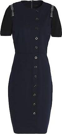 6d5b61b1f7dd5 Elie Tahari Elie Tahari Woman Embellished Lace-trimmed Crepe Mini Dress  Black Size 10