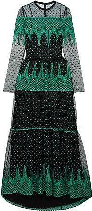Philosophy di Lorenzo Serafini Philosophy Di Lorenzo Serafini Woman Embroidered Tulle Gown Black Size 42