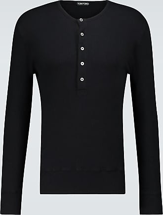 Tom Ford Ribbed cotton Henley top