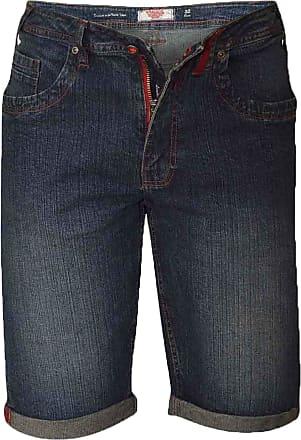 Duke London Mens Duke Big King Size Vintage Denim Knee Length Casual Summer Shorts 42 44 46