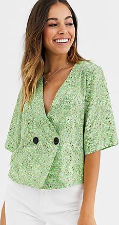Glamorous Bluse mit zwei Knöpfen in Grün getupft