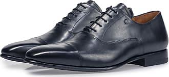 Floris Van Bommel Dunkelblauer Kalbsleder-Schnürschuh, Business Schuhe, Handgefertigt