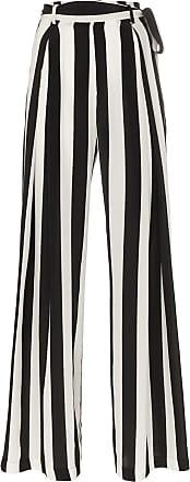 We are Leone tie waist striped silk trousers - Preto
