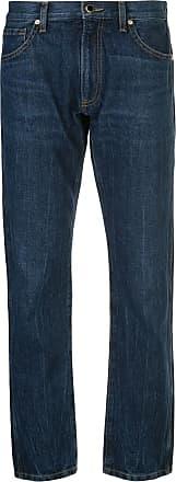 Khaite Calça jeans reta cintura média - Azul