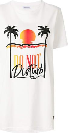 Chiara Ferragni Camiseta com estampa de palmeira - Branco