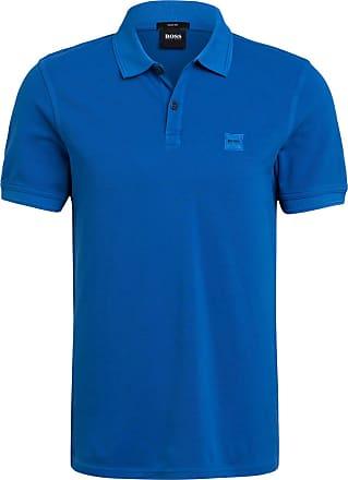 BOSS Piqué-Poloshirt PRIME Slim Fit - BLAU