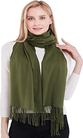 CJ Apparel Dark Green Thick Solid Colour Design Cotton Blend Shawl Seconds Scarf Wrap Stole Throw Pashmina CJ Apparel NEW