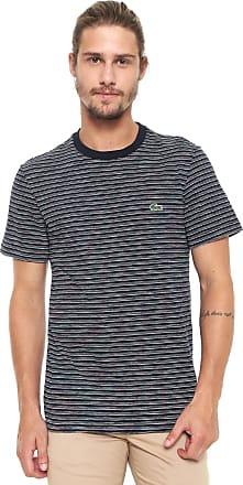56e8a284d6c Lacoste Camiseta Lacoste Listrada Azul-marinho