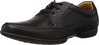 de Black Leather 5 Clarks homme Recline 5 EU 42 8 Chaussures UK Noir Out ville S8Stq0w