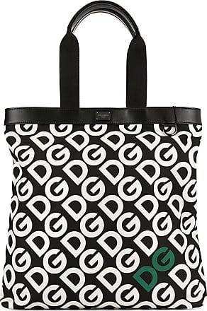 Dolce & Gabbana Bolsa tote com estampa de logo - Preto
