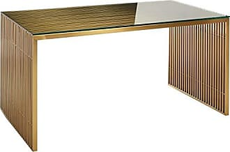 ModWay EEI-3038-GLD Gridiron Dining Table, Gold