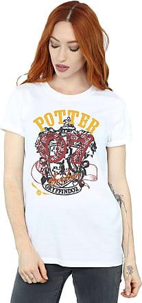 Harry Potter Womens Gryffindor Seeker Boyfriend Fit T-Shirt Large White