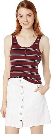 Small Heather Grey Volcom Juniors Lil Fitted Rib Basics Tank top Shirt