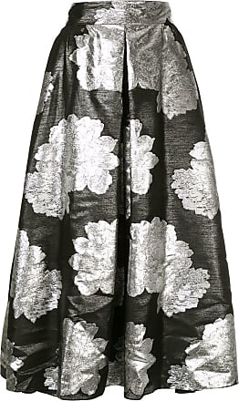Ingie Paris floral metallic skirt - Preto
