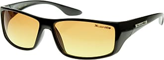 X Loop HD Vision Clarity Sports Square Wraparound Official XLOOP Sunglasses (Shiny Black)