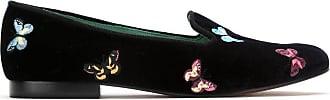 Blue Bird Shoes Loafer Borboleta de veludo - Preto