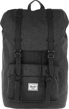 Herschel Little America Mid Volume Backpack Black Crosshatch Rucksack grau