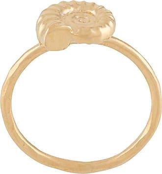 Natalie Perry Jewellery Anel Ammonite - Dourado