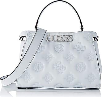 Guess Chic TURNLOCK Satchel, Handbag Woman, White, Plain