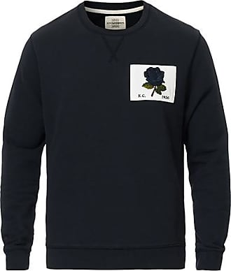 Kent & Curwen Rose Embroidered Sweatshirt Navy