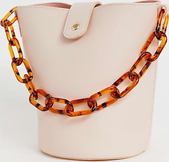 Missguided bucket bag with tortoiseshell chain strap in pink