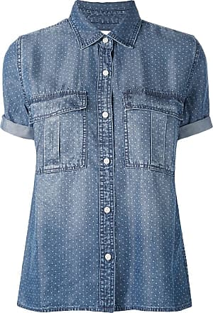 Current Elliott polka dot denim shirt - Blue