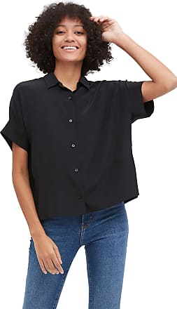 LilySilk Oversize Loose 100% Silk T-Shirt Casual Short Sleeves Blouse for Women Black, M
