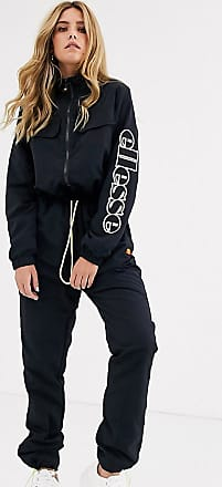 Ellesse Ellesse high neck boilersuit with neon drawcord and arm logo-Black