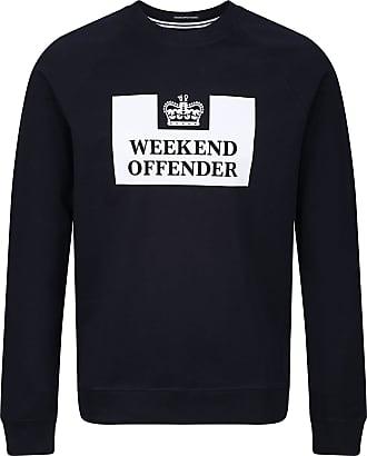 Weekend Offender Penitentiary Sweatshirt in Navy Medium